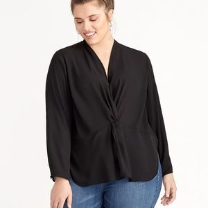 NWT Vaughn V-Neck Front Cinched Long Sleeve Blouse
